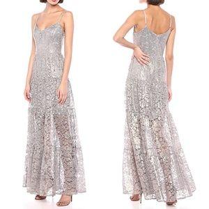 DRESS THE POPULATION Antoinette Lace Maxi Dress L